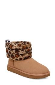 UGG FLUFF MINI QUILTED LEOPARD BOOT