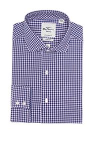 Ben Sherman Pink & Blue Gingham Slim Fit Dress Shi