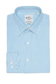 Ben Sherman Teal Dobby Stripe Slim Fit Dress Shirt