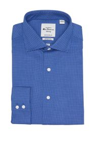 Ben Sherman Royal Blue Dobby Check Print Slim Fit