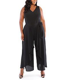 Plus Size Split-Leg Jumpsuit