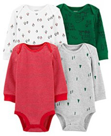 Carters Baby Boy 4-Pack Holiday Original Bodysuits