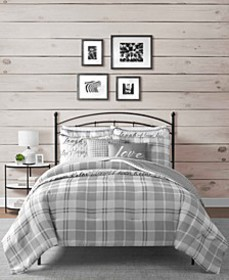 Gingham 8-Pc Comforter and Coverlet Set