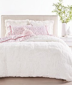 Shaggy Faux Fur Bedding Collection, Created for Ma