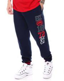 Ecko printed cotton fleece logo jogger