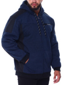 Buyers Picks moto stitched nylon pieced lined flee