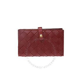 Bottega Veneta Bottega Veneta Burgandy Leather Wal