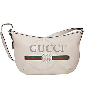 Gucci Gucci Shoulder Bag With Logo Print in White