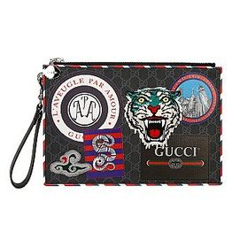 Gucci Gucci Men's Night Courrier GG Supreme Pouch
