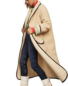 Free People - Faux Sherpa Long Jacket