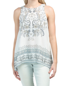 Sleeveless Printed Georgette Tunic