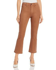 7 For All Mankind - High Waisted Coated Slim Kick
