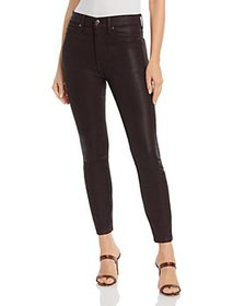 7 For All Mankind - Coated High Waisted Ankle Skin