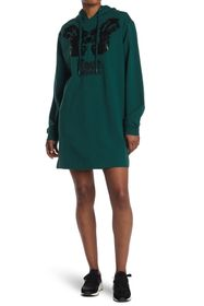 LOVE Moschino Hooded Dress With Embroidery