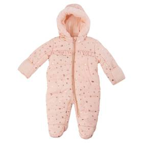 Baby Girl (3-9M) Kensie Rose Gold Foil Hearts Cove
