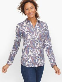 Talbots Perfect Shirt - Forest Paisley