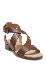 LifeStride Banning Cross Strap Flat Sandals - Wide
