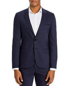 HUGO - Anfred Washable Wool Plaid Extra Slim Fit S