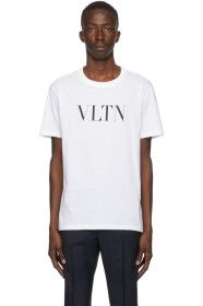 Valentino - White & Black 'VLTN' T-Shirt