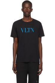 Valentino - Black & Blue 'VLTN' T-Shirt