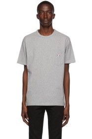 Maison Kitsuné - Grey Tricolor Fox T-Shirt