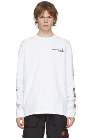 Heron Preston - White & Blue 'World Wide Love' Lon