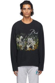 Rhude - Black Lions Long Sleeve T-Shirt