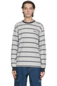 thisisneverthat - Grey Striped Long Sleeve T-Shirt