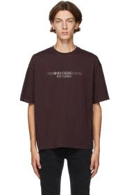Opening Ceremony - Brown Embroidered Logo T-Shirt