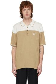 Burberry - Beige & Off-White Silk Cashmere Brayton