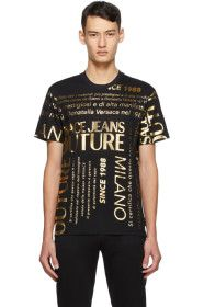 Versace Jeans Couture - Black Allover T-Shirt