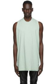 Rick Owens Drkshdw - Green Cotton Tank Top
