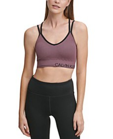 Performance V-Neck Strappy-Back Sports Bra