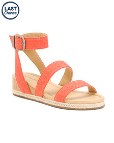 LUCKY BRAND Demi Cork Wedge With Espadrille Wrap