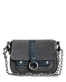 Zadig & Voltaire - Kate Suede & Embossed Leather S