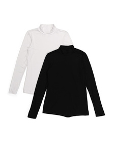 2pk Mock Neck Shirts