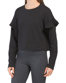 Crew Neck Yummy Long Sleeve Top