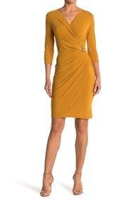 T Tahari Wrap Midi Dress