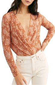 Free People Print Long Sleeve Bodysuit