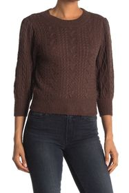 Free People Villa Cable Knit Pullover