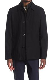 SOUL OF LONDON Wool Blend Button Front Jacket