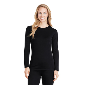 Womens Cuddl Duds® Long Sleeve Softwear Thermal To