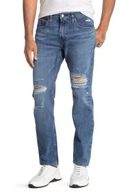 Levi's 502 Tapered Distressed Jeans
