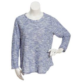 Womens Emily Daniels Long Sleeve Space Dye Top