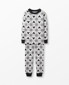 Hanna Andersson Disney Mickey Mouse Plaid Long Joh