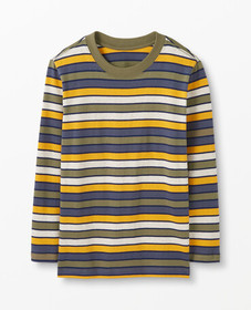 Hanna Andersson Striped Sueded Tee