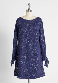 Hutch Floating Fairy Dust Shift Dress in Navy/Gold