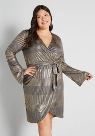 Hutch Hutch Wrapped Up in a Classic Wrap Mini Dres