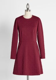 Hutch Black Cherry Soda Pop Knit Dress Burgundy