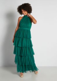 An Extravaganza to Remember Maxi Dress in Green